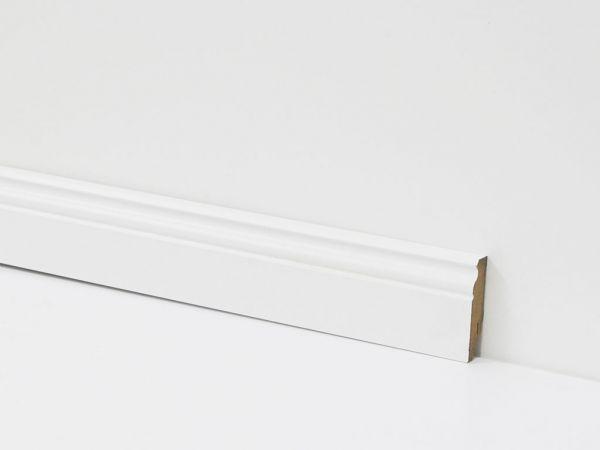 Equipped Sockelleiste 90mm 0031 Weiss Mit Nut (Berliner Leiste)