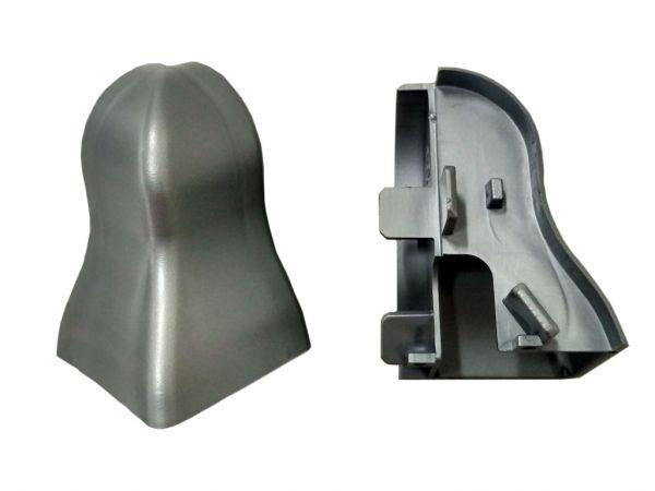 Equipped 1218 Außenecke Silbergrau 40mm